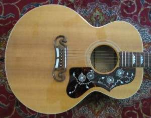 Gibson J200 Jr Montana 1990s Flame Maple